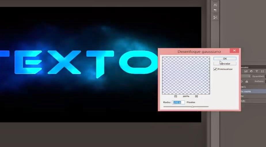 radio en pixeles de desenfoque