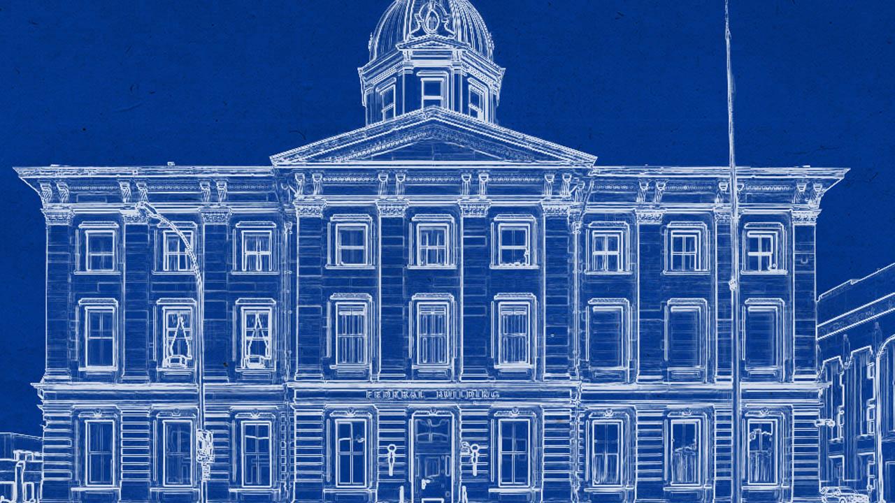 Efecto de Blue Print o Planos Arquitectónicos