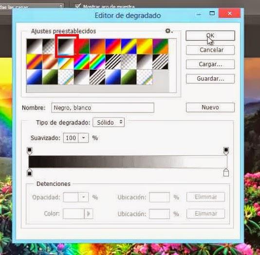 elige colores para herramienta degradado