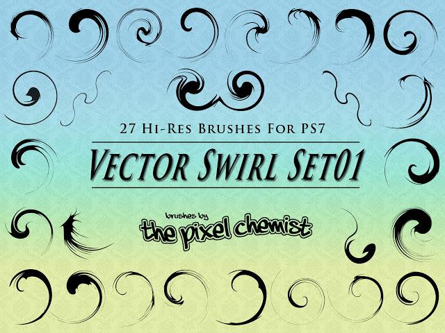 Vector Swirls Set Brushes