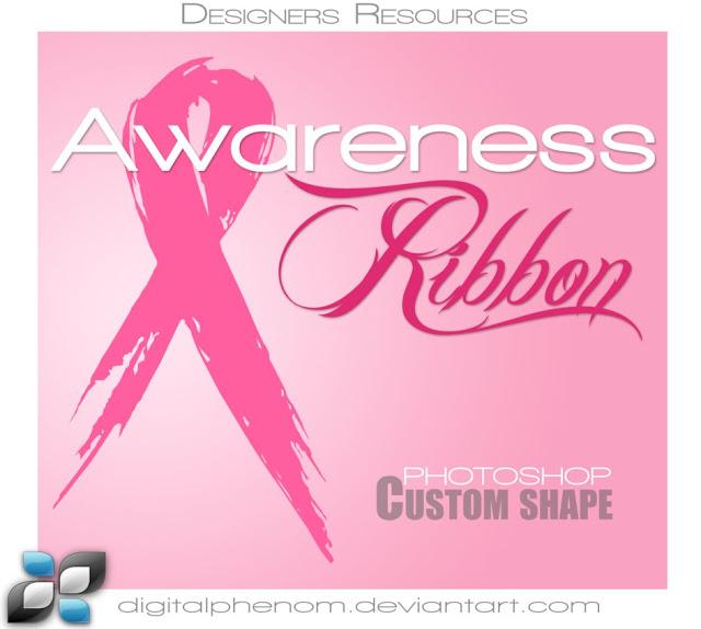 Grunge Awareness Ribbon Set Brushes