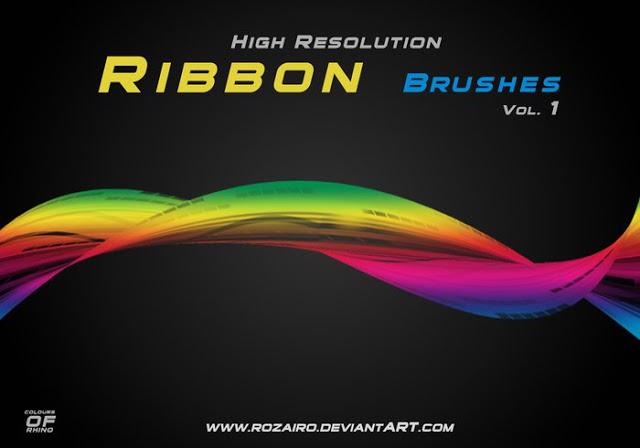 High Res Ribbon Brushes Vol 1