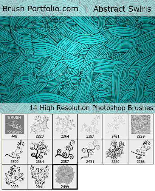 Abstract Swirls Brushes
