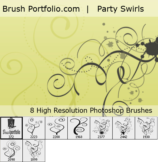 Party Swirl Brushes For PS