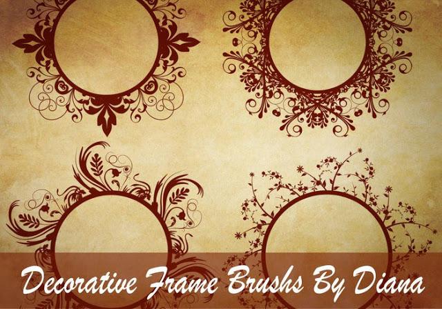 Decorative Frame Brushes For Photoshop