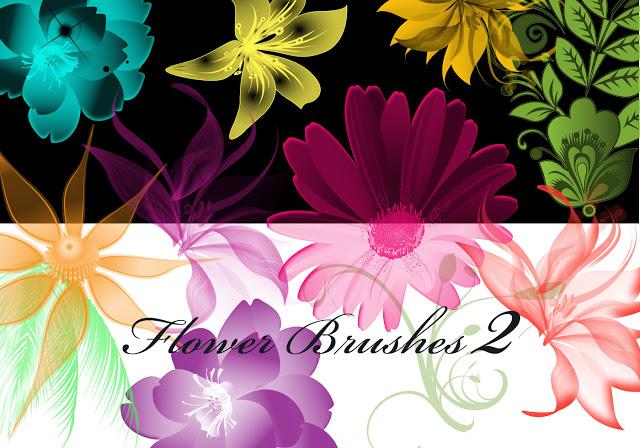43 Hi-Res Floral Brushes For Photoshop