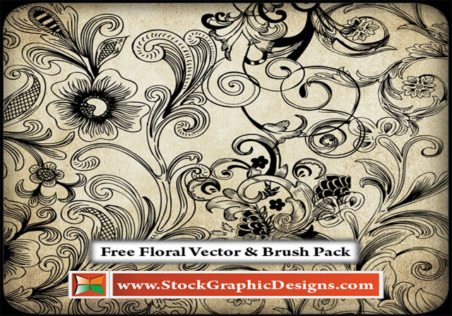 Free Floral Brushes Pack