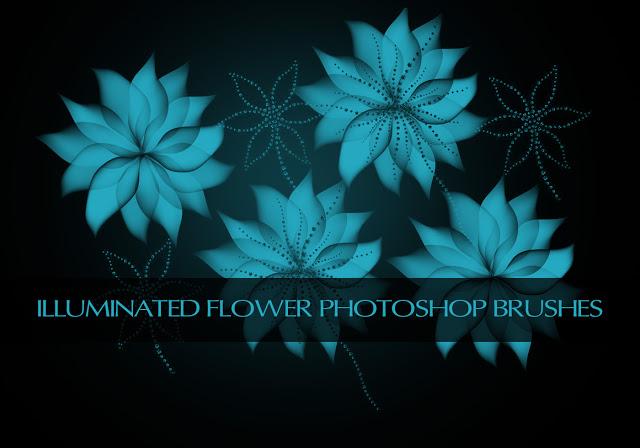 Shiny Flowers Brushes