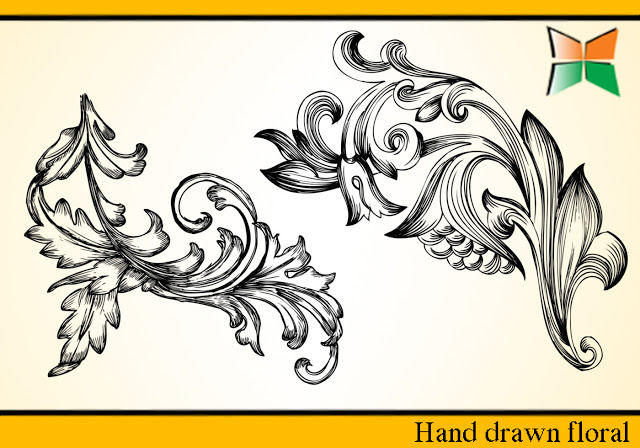 Hand Drawn Floral Brushes