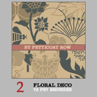 72 Floral Deco Brushes