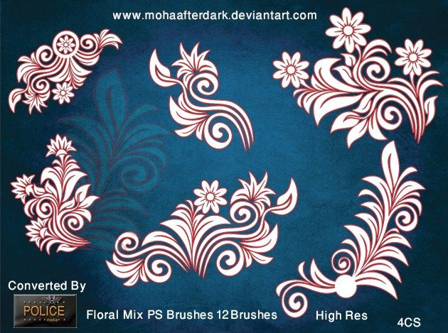 12 Floral Mix PS Brushes