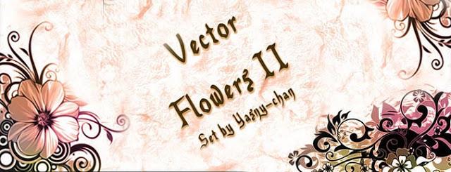 Vector Flowers II Set Brushes