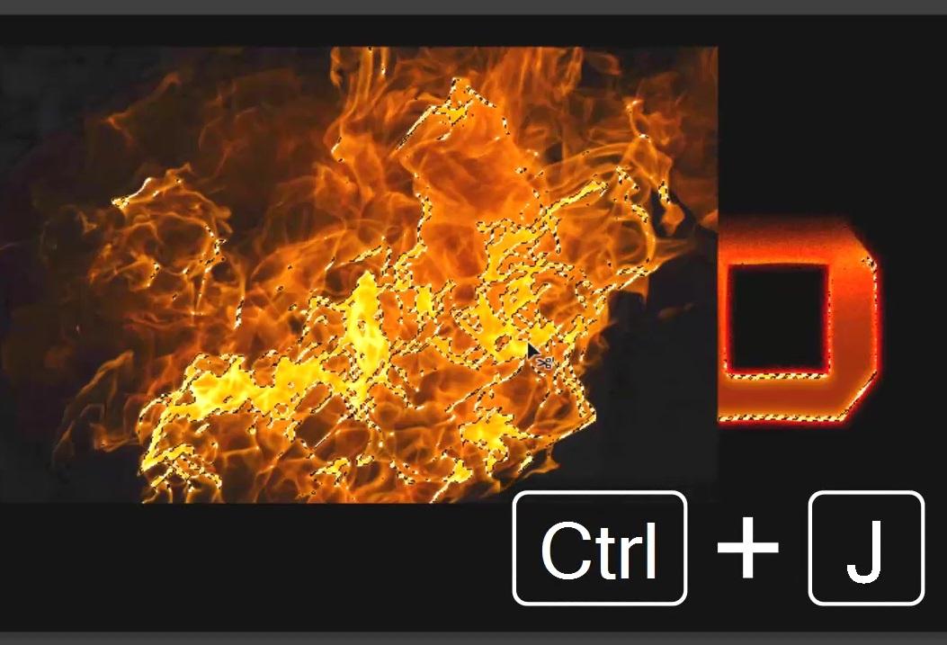 copiar parte del fuego