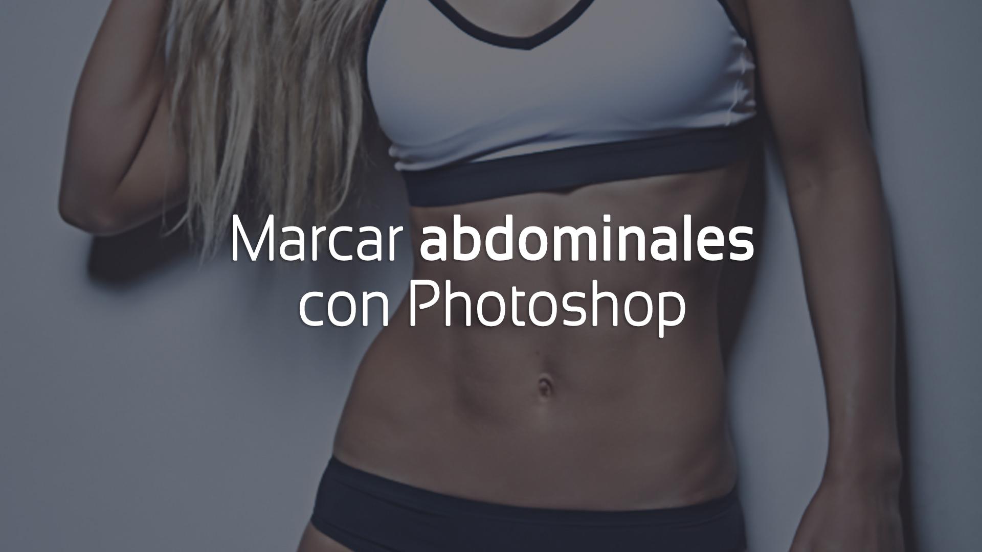 marcar abdominales con photoshop cover