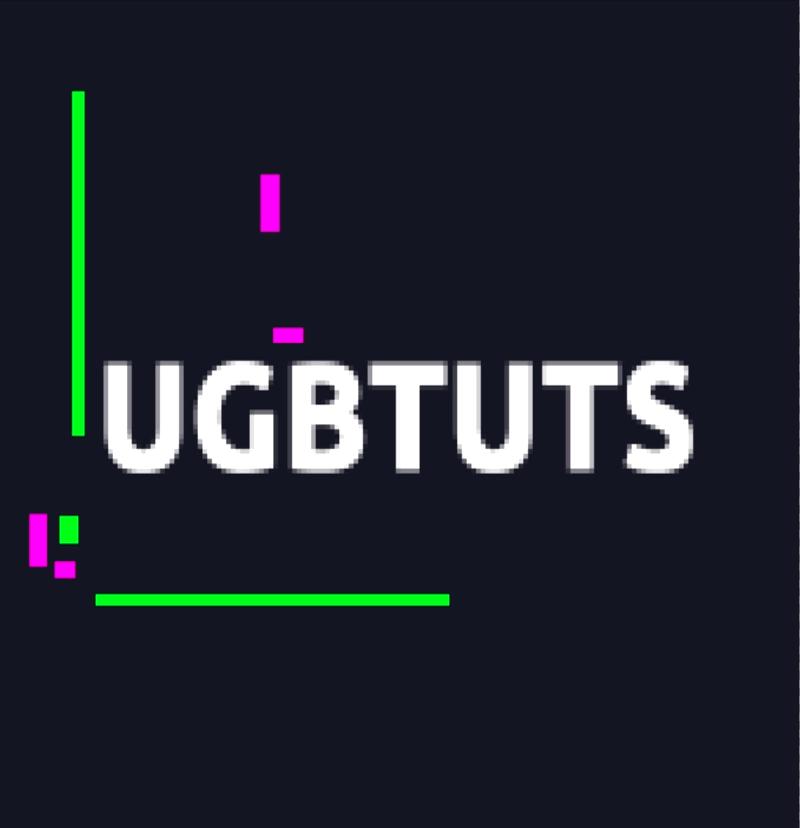 gif animación texto glitch partículas colores