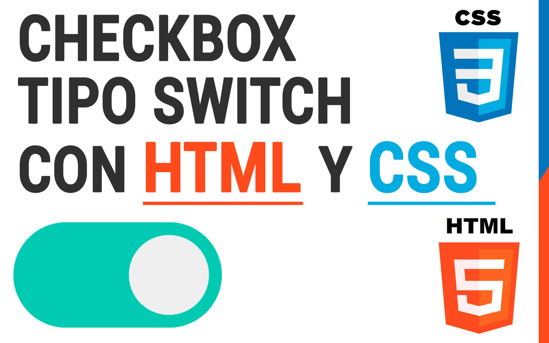 checkbox switch html css