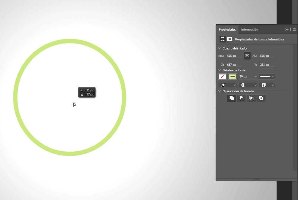 creación de circulo