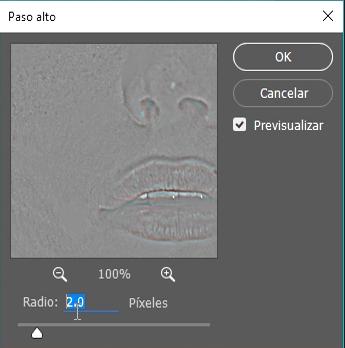 paso alto 2 pixeles
