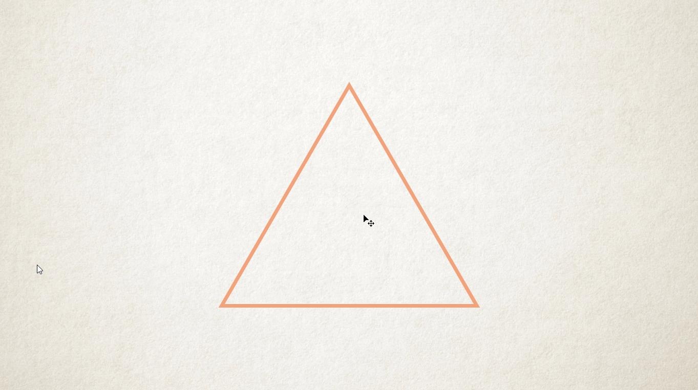Triangulo con Trazo